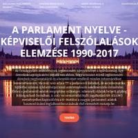 A Parlament nyelve - képviselői felszólalások (1990-2017)