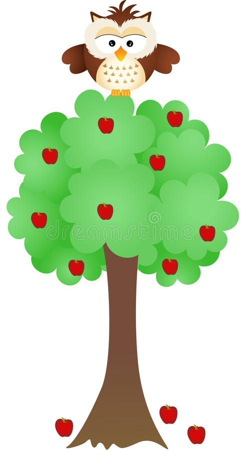 owl-apple-tree-scalable-vectorial-image-representing-isolated-white-36164169.jpg