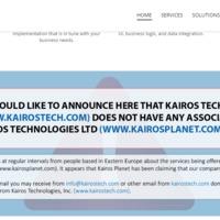 Kairos Technologies Inc - Kairos Technologies Ltd