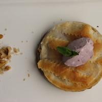 Fügés rétes desszert bodzazselés  mascarponéval