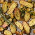 Rozmaringos sült krumpli kelbimbóval