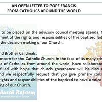 Nyílt levél Ferenc pápának