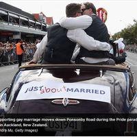 Új-Zélandon is támogatják az azonos neműek házasságát