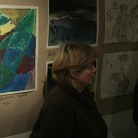 Vida Judit művészetterápiás foglalkozásának kiállítása