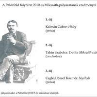 A Palócföld folyóirat 2010-es Mikszáth-pályázatának eredményei