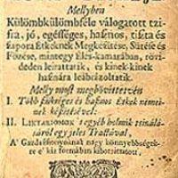 Egy 300 éves étel íze - bibliofil csemegék