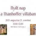 Nyílt nap a Thanhoffer villában!