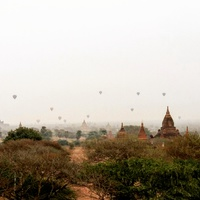 Holegballonok Bagan felett