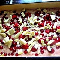 Gyümölcsös-fehércsokis süti