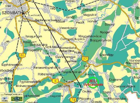 jeli arborétum térkép A Jeli Arborétum 1.   Kapanyél jeli arborétum térkép