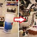 Téli mini város terepasztal építés két percben - videó