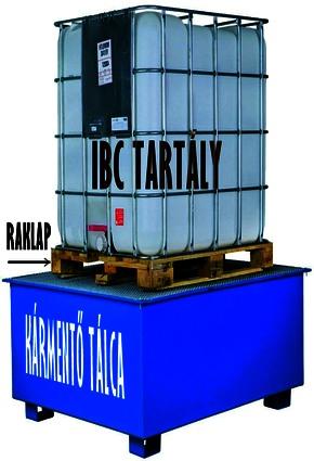 ipari műanyag tartály és kármentő tálca