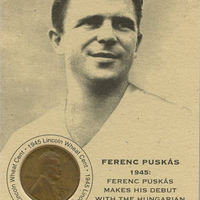 Puskás penny-card