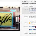 Hamis Beckham-aláírtat tett a Panini az Eminence-sorba