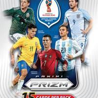 15 kártyás blaster dobozokban jön a World Cup Prizm Red/Blue Wave parallelje