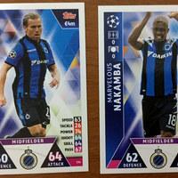Újabb Match Attax BL tévnyomatok – a Club Brugge lapjai össze-vissza vannak számozva