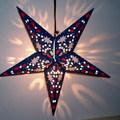 Világító papír csillag sablonnal