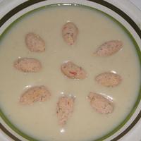 Paprikakrémes húsgombócok - levesbetét ínyenceknek