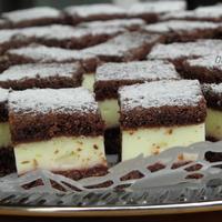 Vaníliás - kakaós süti szilvalekvárral