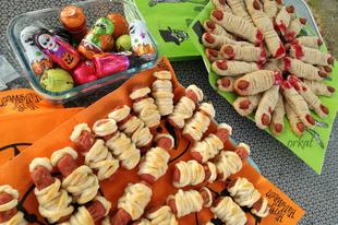 Rémisztő sütik Halloweenre