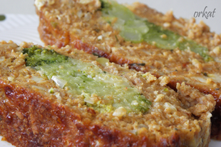 Sajtos egyben sült fasírt brokkolival töltve
