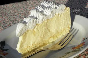 Madártej szelet tortaformában