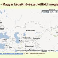 CartC Map - Magyar képzőművészet külföldi megjelenései