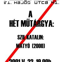 Kis Varsó: A hét műtárgya 2001