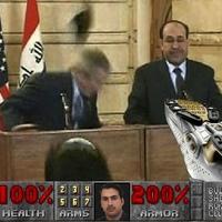 George Bush cipődobálás a Doomban