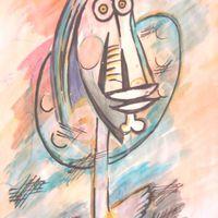 Akhmin G. Kamilla - A festő ló