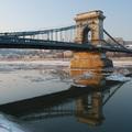 Jégzajlás a Dunán