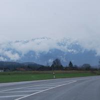 köd, eső, hegyek, kastélyok, tavak, Ausztria és Németország