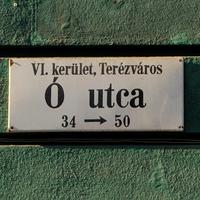A legrövidebb utcanév Budapesten