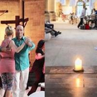 Táncelőadás, jóga, piactér Stuttgart katolikus templomában