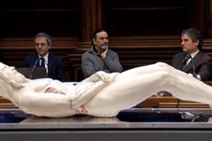 A torinói lepel alapján megformázták a halott Jézus pontos alakját