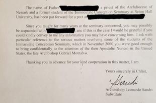 Vatikáni levél igazolja Viganò érsek egyes állításait