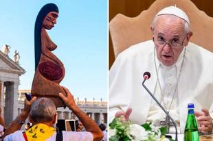 Megkerültek a Földanya-szobrok, Ferenc pápa bocsánatot kért a meggyalázásukért
