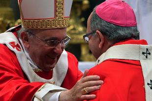 Köszönetet mondott Ferenc pápa az újraházasodottak áldoztatását engedélyező portugál bíborosnak