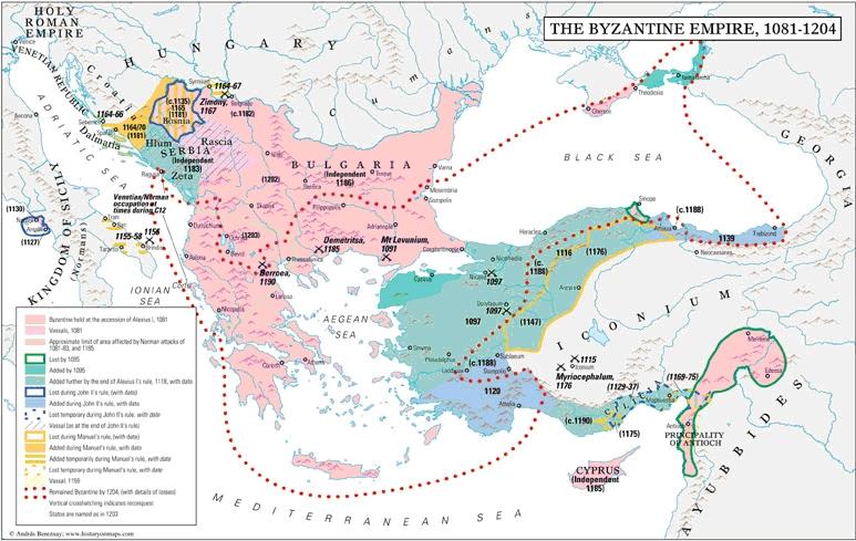 bizánc térkép 200 év a Szentföldön: keresztes hadjáratok, lovagrendek   1. rész
