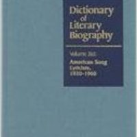 !WORK! Dictionary Of Literary Biography: American Song Lyricists 1920-1960. House taken thanks varios Football