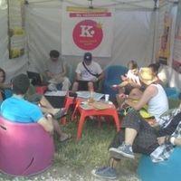 Első napi pillanatkép  a Kék Pont sátrából,  a VOLT Fesztiválról