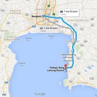 Bangkok - Pattaya, érkezés a szállásra