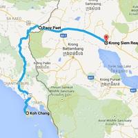Thaiföld --> Kambodzsa kéjutazás