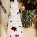 Mini karácsonyfa készítés