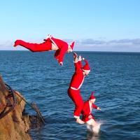 Karácsonyi merülés (40ft beach, Sandycove)