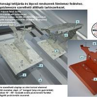 Biztonsági tetőjárda trapézlemezre szerelhető!