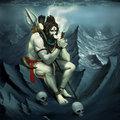 Shiva jól megérdemelten pöfékel a Himalája tetején