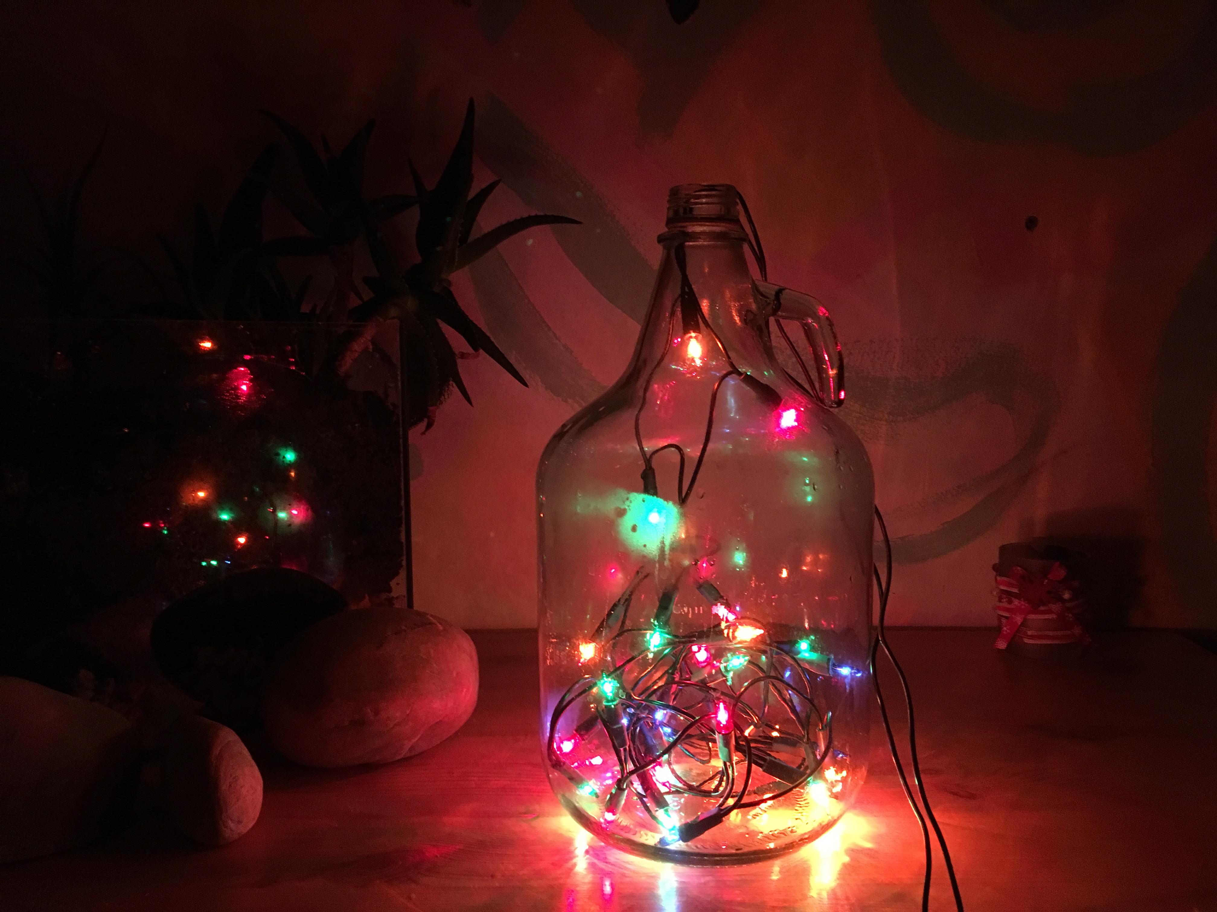Karácsonyi üveg.