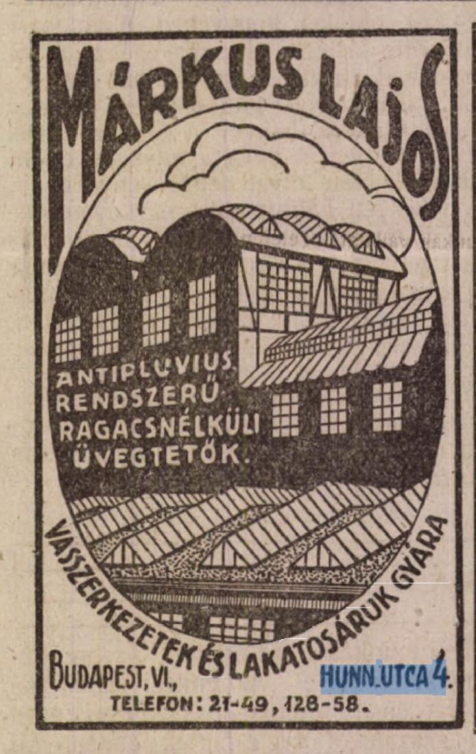 Forrás: Arcanum/ Építő Ipar, 1923