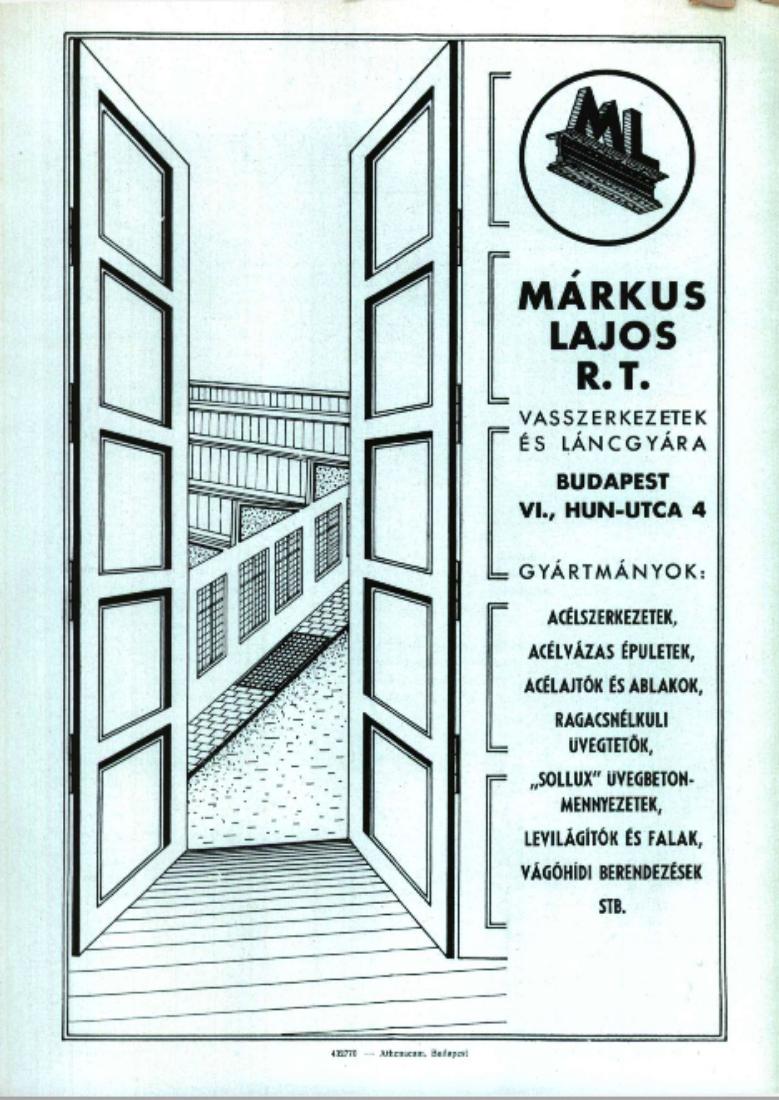 Forrás: Arcanum/ Magyar Építőművészet